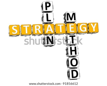 3D Career Strategy Crossword on white background