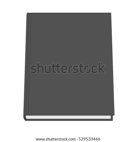 2d cartoon illustration of book