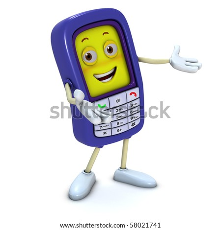 3d Cartoon Mobile Phone