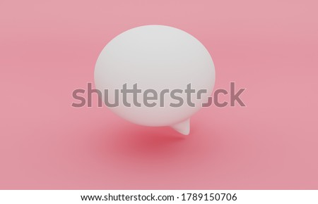 3d cartoon talk ballon. Famous inflated icon to conversation, speechs any type of conversation