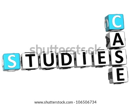 3D Case Studies Crossword on white background