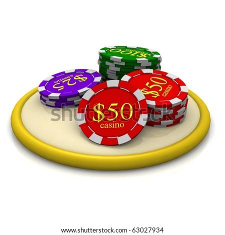 3d casino chip icon