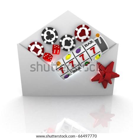 3d casino concept - stock photo
