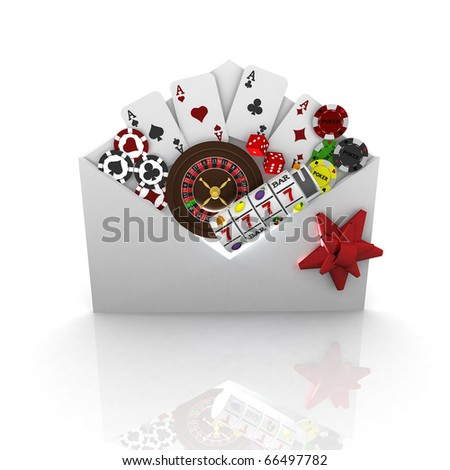 3d casino concept - stock photo