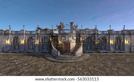 3D CG rendering of a palace