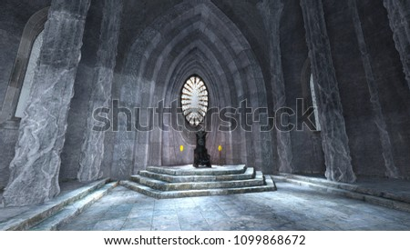 3D CG rendering of the throne