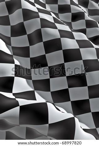 3d checkered flag