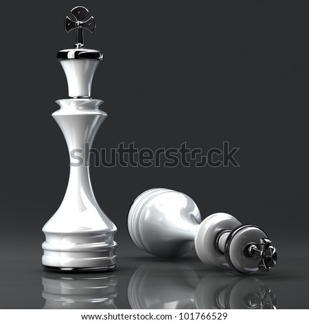 3d Chess white King  High resolution.