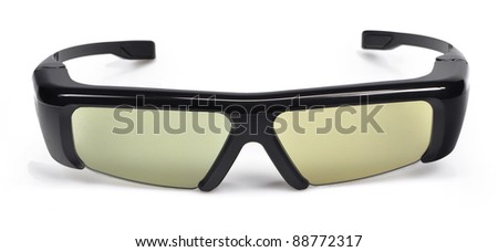 3D cinema glasses isolated on white background