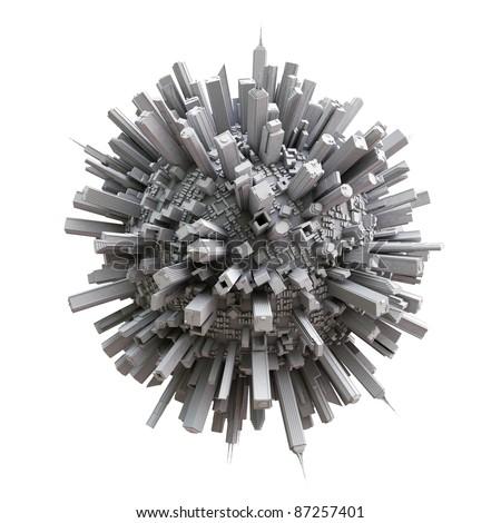 3d city globe