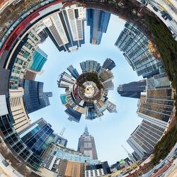 3d City Planet Inside City Tunnel
