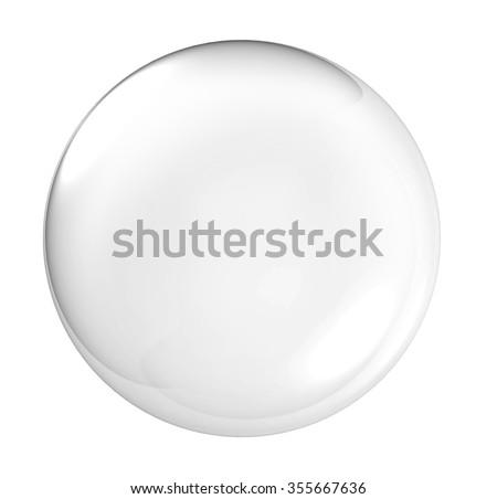 3D Clear glass ball