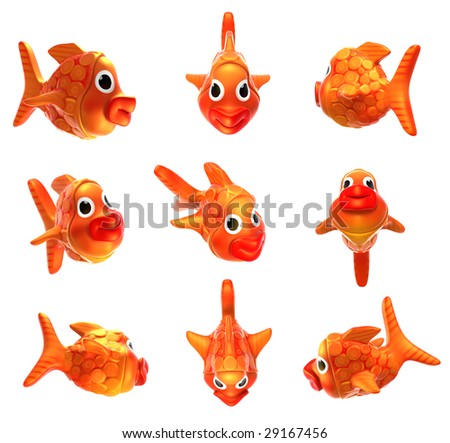 clip art fish. stock photo : 3D clip art