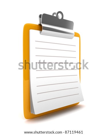 3D Clipboard isolated