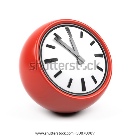 3d clock on a white background.