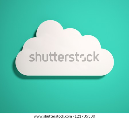 3d cloud icon. 3d render