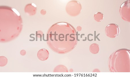 3D Collagen Skin Serum and Vitamin illustration isolated on soft color background. concept skin care cosmetics solution. 3d rendering.