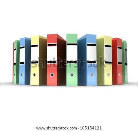 3d Color folders - stock photo