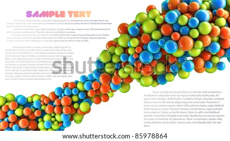 3D colored abstraction background with the place for text
