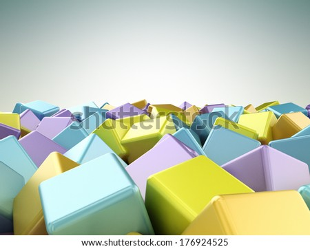 Abstractcubes colourful