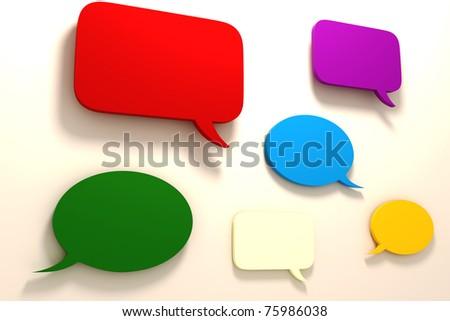 3d colorful bubble text