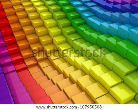 3d colorful cubes background