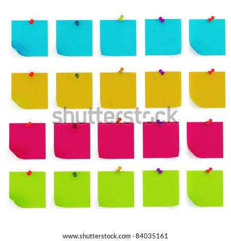 3d colorful sticky notes