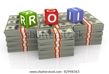 3d colorful textbox roi - Return on Investment