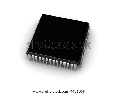 3D computer chip (place for your text)