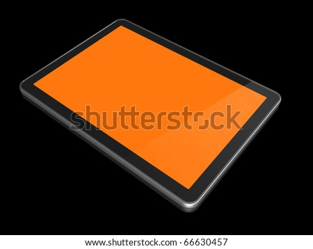 3D computer, digital Tablet pc, isolated on white with clipping path
