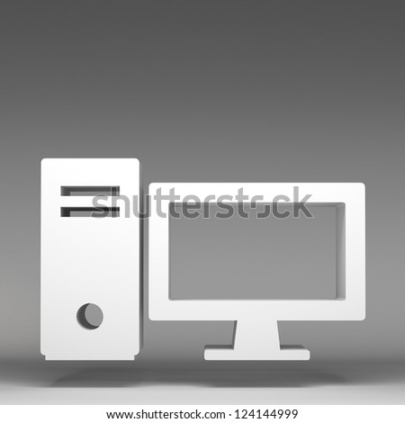 3d computer icon