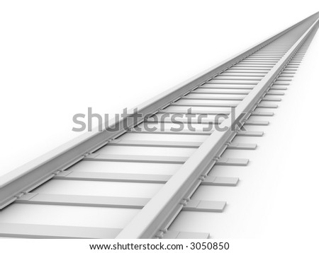 3D concept - Endless Train track