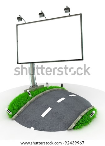 3D Concept Traffic Sign isolated on White Background