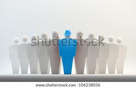 3D conceptual figures - leaders concept