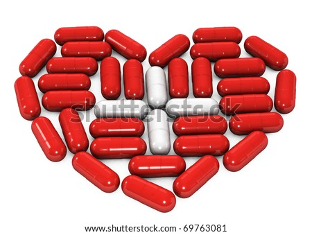 3d conceptual image of pills