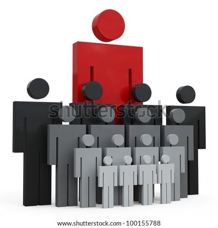 3d conceptual image of teamwork.