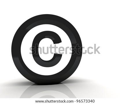 3d Copyright symbol black