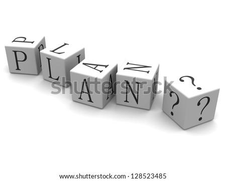 3D cube: word Plan