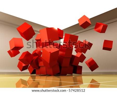 3d cubes.