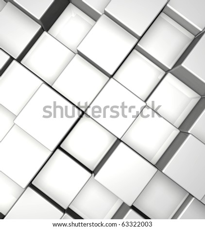 3d cubes background - illustration