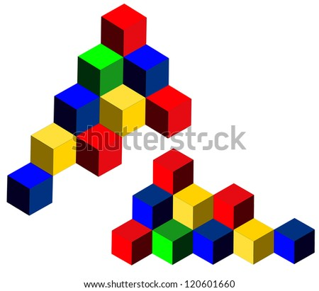 3d cubes - business corporate symbol, organisation coordination