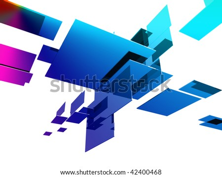 3d cubes with glossy light effects