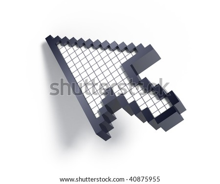 3d cursor on white background