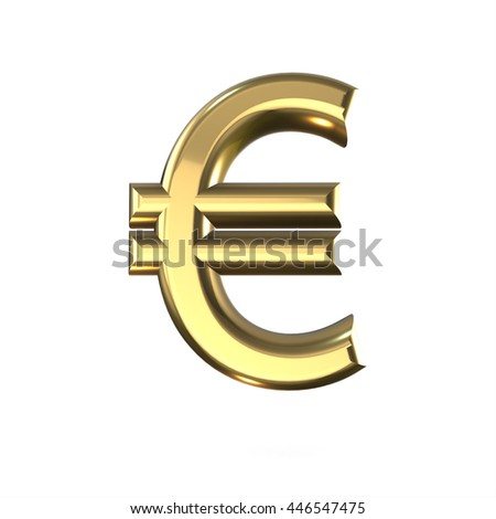 Picnetz 3d Cute Gold Metal Euro Sign With Cartoon Comic And