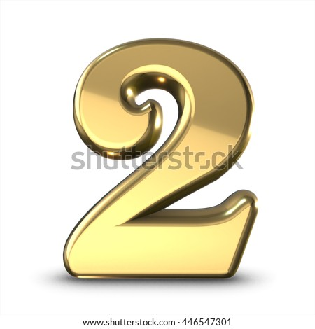 the number 2 gold ez canvas