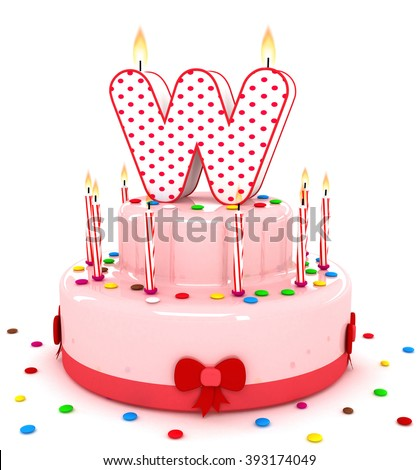 birthday cake with colorful candles at a birthday party ez canvas