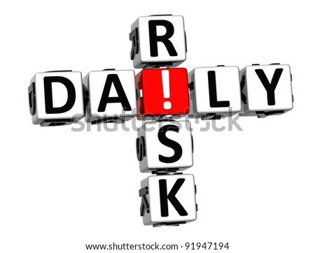 3D Daily Risk Crossword on white background