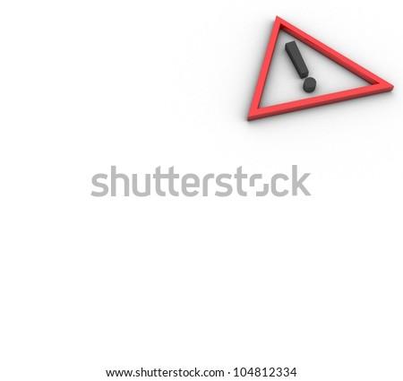 3d Danger symbol