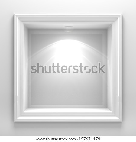 3d decoration shelf on white wall