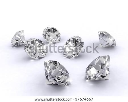 3d diamond art - stock photo